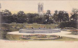 HUDDERSFIELD, England, 1900-1910's; Italian Gardens, Greenhead Park