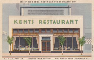 New Jersey Atlantic City Kents Restaurant 2124 Atlantic Avenue Curteich sk1775
