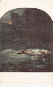 P. DELARO. The Young martyr. Fine painting, Salon de Paris PC # 5462