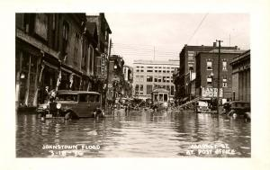 PA - Johnstown. March 18, 1936 Flood. Market St at Post Office *RPPC