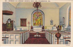 Delaware Wilmington Interior Old Swedes' Church Curteich