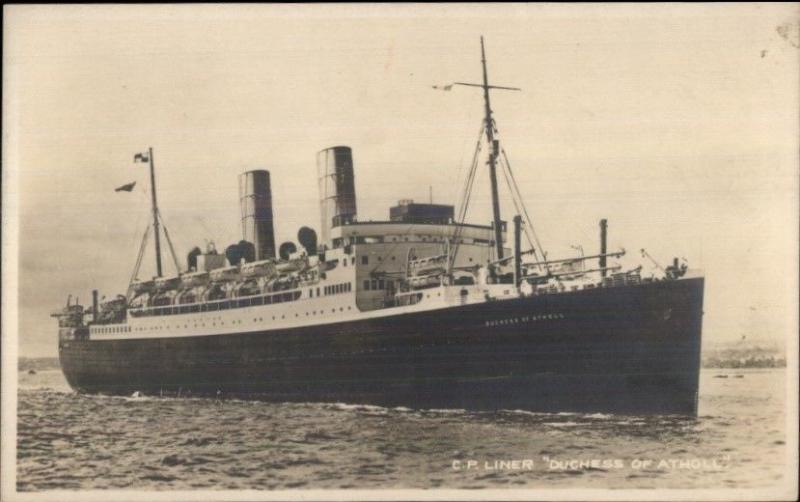 Steamship SS Duchess of Atholl c1915 Real Photo Postcard
