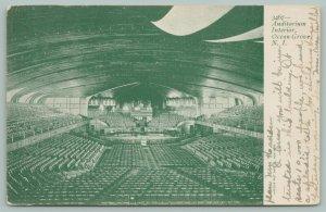 Ocean Grove New Jersey~Auditorium Interior~Empty Seats~1905 B&W Postcard