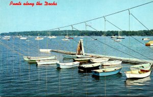Maine South Freeport Punts Along The Dock