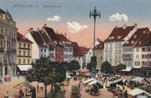 Mühlhausen (when Germany) , Bas-Rhin , Now France , 00-10s ; Rathausplatz
