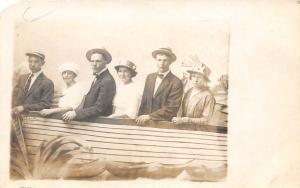 D17/ Zanesville Ohio Postcard Real Photo RPPC 1915 Muskingum County Fair Boat