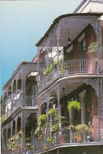 Louisiana New Orleans Lace Balconies 1986
