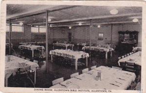 Dining Room, Allentown Bible Institute, Allentown, Pennsylvania, PU-1949