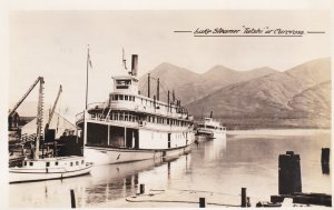 RP: CARCROSS , Y.T. , 1928 ; Lake Steamer YUSHI at pier
