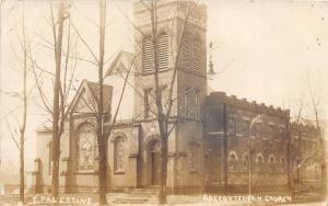 E20/ East Palestine Ohio Real Photo RPPC Postcard 1914 Presbyterian Church 1