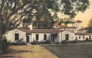 Spanish Bungalows, Hotel Del Monte, CA Hand-Colored ca 1930s Vintage Postcard