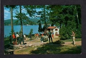 NY Word of Life Island Schroon Lake NEW YORK Postcard Miniature Golf Course