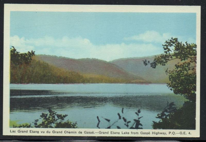 Colour PC Grand Elana Lake from Gaspe, Highway P.Q. . unused