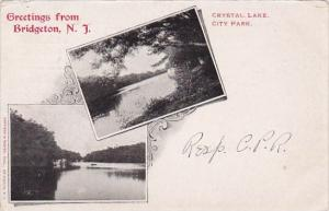 Crystal Lake City Park Greetings From Bridgeton New Jersey