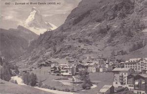 Zermatt Et Mont Cervin (4505m), Valais, Switzerland, 1900-1910s