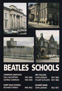 The Beatles Schools as Children John Lennon Institute Postcard