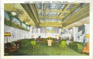 W/B of Lobby, Northern Hotel in Billings Montana MT 1937