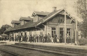 sweden, OUSBY, Järnvägsstationen, Railway Station (1910s)