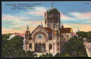 Florida ST. AUGUSTINE Flagler Memorial Church Howard Lee, Minister - LINEN