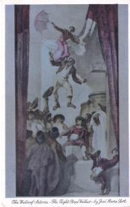 'The Tight-Rope Walker' ~ Sert Room Waldorf Astoria NY Jose Maria Sert Postcard