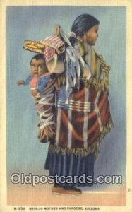 Navajo Mother & Papoose Indian Unused