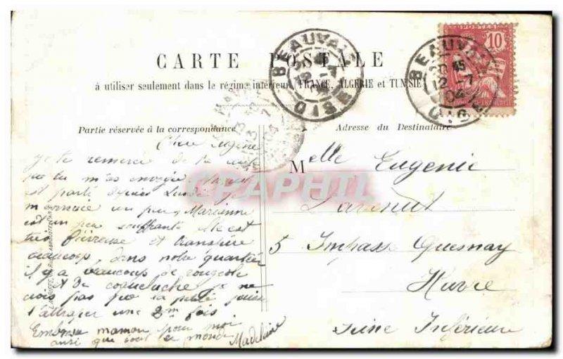 Paris - 4 - Fontaine St Michel - Old Postcard