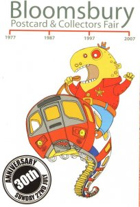 Rodeo Ride on London Tube Train Snake Advertising Limited Edition Postcard