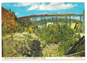 Algawa Canyon Tour Ontaro Train Trestle Vtg E Ott Postcard