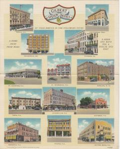 AD; Gilbert System Hotels , 30-40s ; Bifold