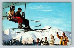 Mt. Alyeska AK-Alaska, 1963 National Alpine Ski Championship, Chrome Postcard