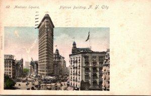 New York City Flat Iron Building 1905 Rotograph