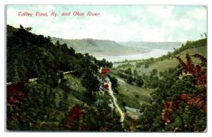 Early 1900s Valley View, KY and Ohio River Postcard
