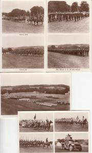 British military armored car  musical ride rifle brigade drill postcards x 4