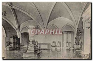 Pau Old Postcard Interior of the castle's dining officers