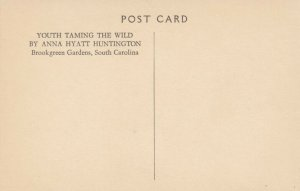 BROOKGREEN GARDENS, South Carolina, 20-30s; Youth Taming the Wild Statue