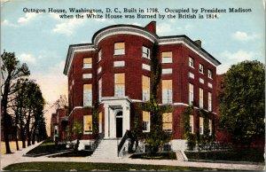 Vtg 1910s Octagon House Occupied by President Madison Washington DC Postcard