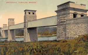 Britannia Tubular Bridge, Wales, Early Postcard, Unused