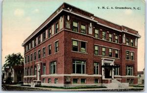 Greensboro, North Carolina Postcard YMCA Building View Boarding House c1910s