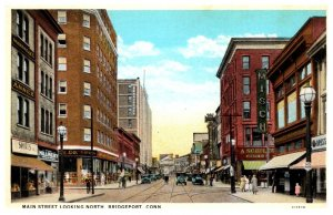 Connecticut Bridgeport Main Street  looking North