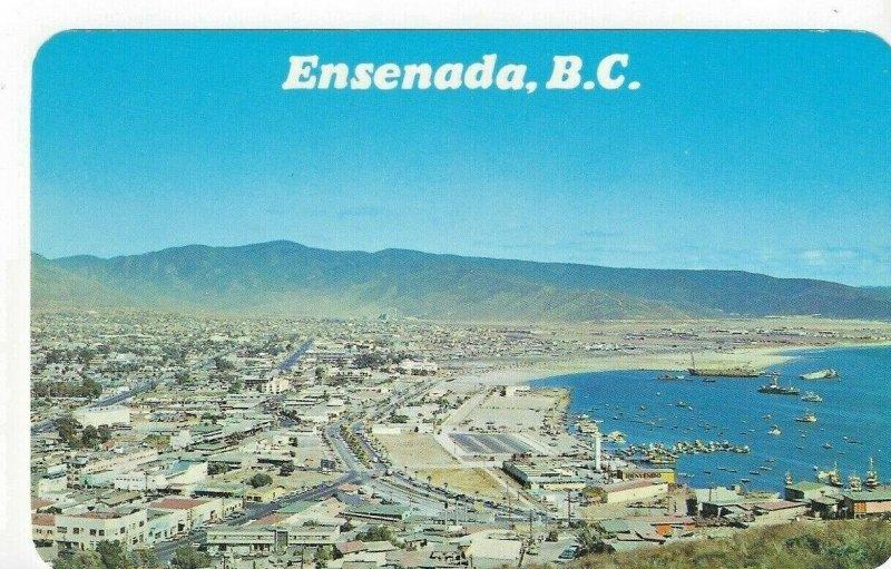 Ensenada Baja California BC Norte Mexico Aerial View Vintage