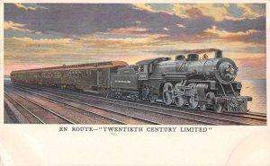 20th Century Express Train En route Vintage Postcard AA14257