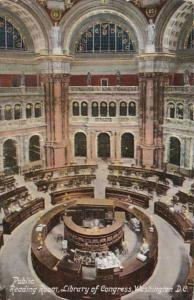 Washington D C Library Of Congress Public Reading Room 1911