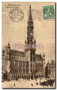 Old Postcard Belgium Brussels City Hall