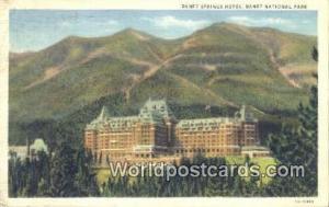 Canada Banff National Park Banff Springs Hotel