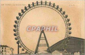 Old Postcard Paris Ferris Wheel