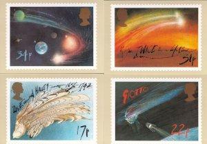 Haileys Comet Ralph Steadman 4x MINT Painting Limited Edition Postcard Set
