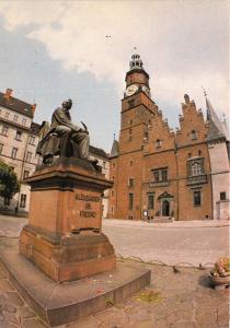 B46105 Wroclaw Rynek pomnik Aleksandra Fredry   poland