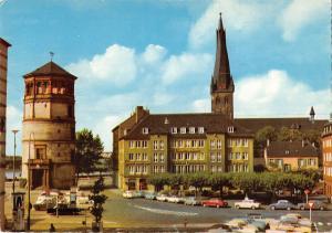 GG11588 Duesseldorf Burgplatz Auto Vintage Cars Tower Church Kirche