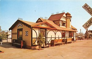 California Train Postcard Arcadia Station Built in 1895 Unused