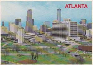Georgia Atlanta Skyline Showing Georgia-Pacific Building & Peachtree Plaza Hotel